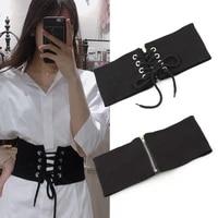 wide female belt stretch elastic women wide corset waist decoration white shirt accessories ceinture femme zipper ladies belts