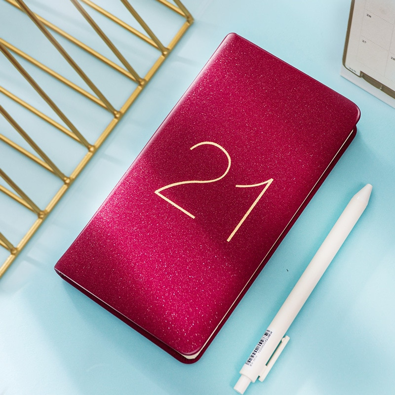 Agendas 2021 Planner Organizer A5 Diary Notebook Monthly Weekly Journal Note Book Personal Business Travel Plan Notepad Schedule