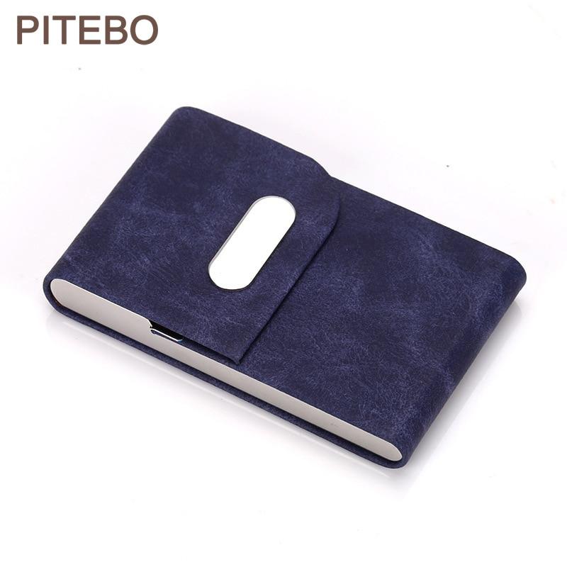 PITEBO Anti-theft brush metal card pack shield Flash PAY STAINLESS STEEL CARD BOX anti-degaussing bank card box cigarette case