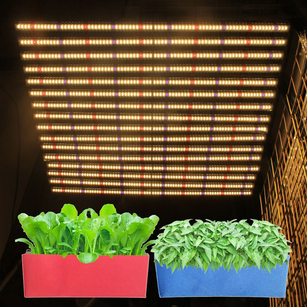 Full Spectrum 16Bars 8Bars 1280W 800W 1000W Rj11 port dimming knob LED Grow Light for Green House Plants