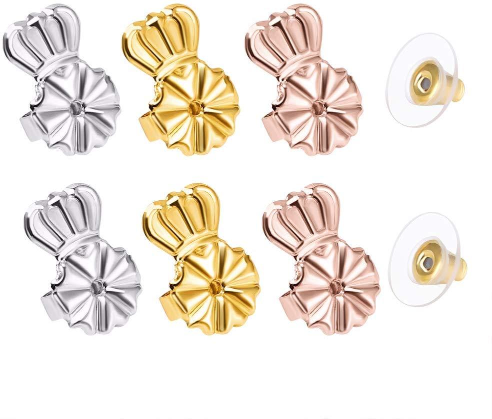 2020 Earrings Lifters gold silver earring hypoallergenic back support fits all earrings box earrings