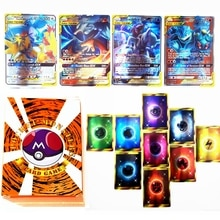 100pcs Pokemon TAG TEAM GX Trainer Energy Shining Card Box TAKARA TOMY Game Card Battle Trading Cart