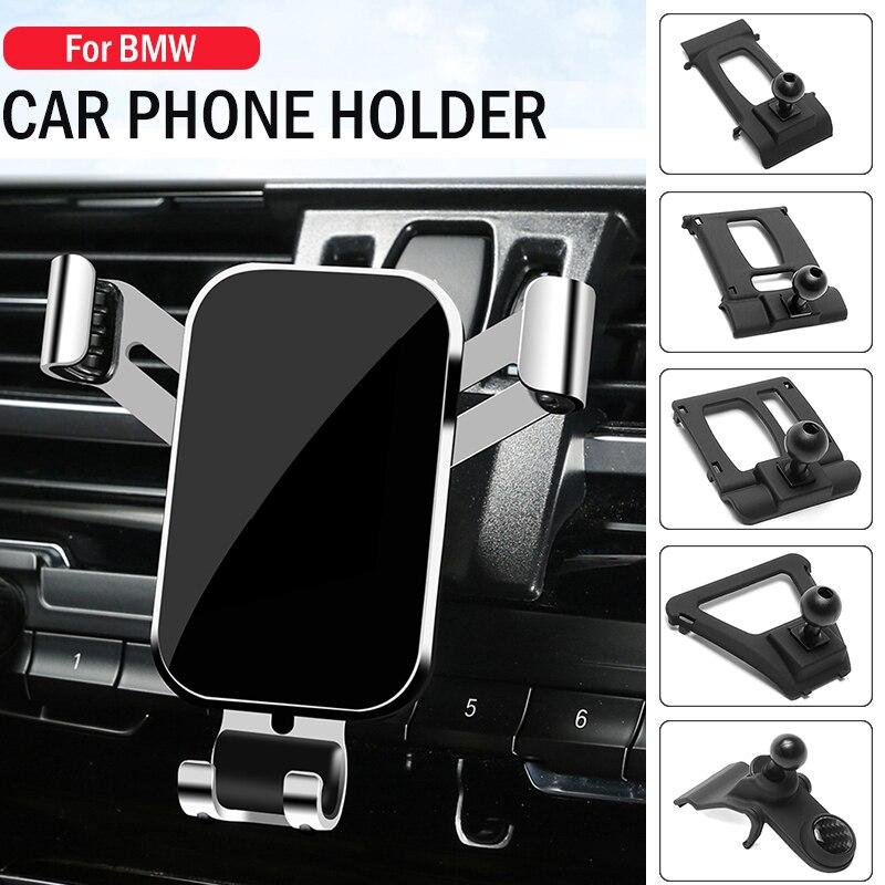 Автомобильный держатель для мобильный телефон, для BMW 1 2 3 4 5 6 7 серии X1 X2 X3 X4 X5 X6 X7 Специальная подставка GPS гравитационная Навигация держатель...