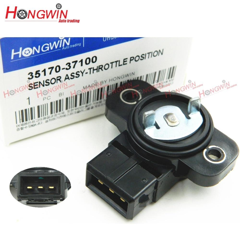 De No 35170 de 37100 Sensor de posición del acelerador encaja Sonata Hyundai Santa Fe Tucson tiburón Kia Optima Sportage 2,5 2.7L 99-06
