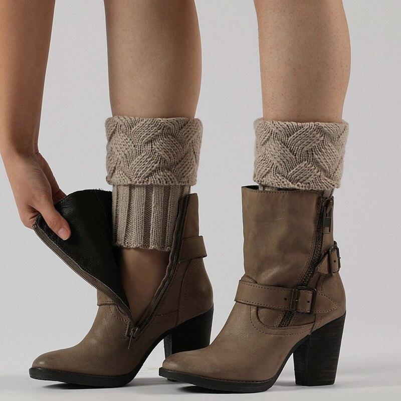 RICORIT 3 Pair Winter Women Knitted Leg Warmers Socks Boot Cover Knitting Socks Keep Warm Leg Socks Set Boots Set Wool Socks