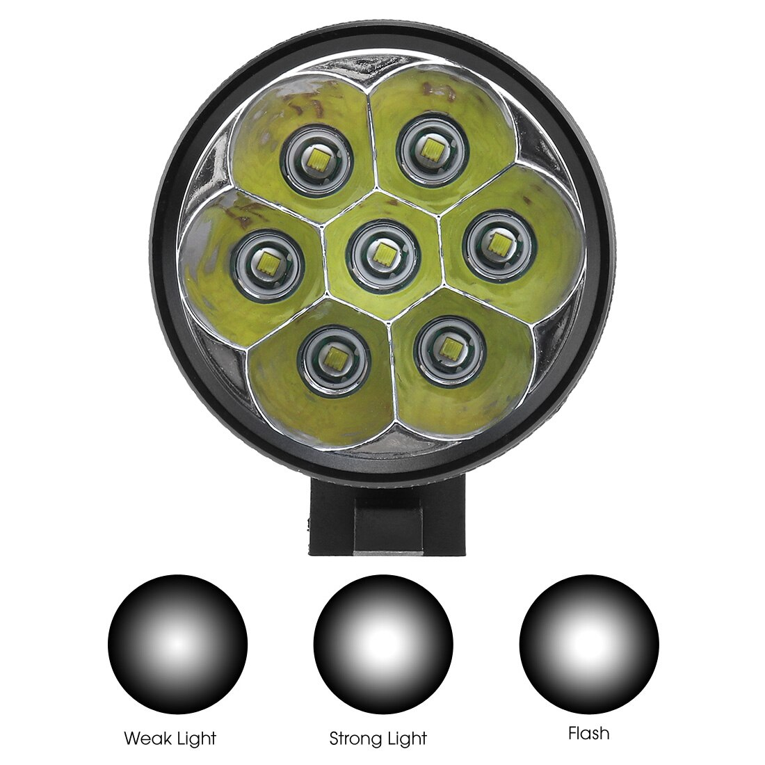 SecurityIng Bicycle Headlights Bike T6 LED Front Head Headlight Bicycle Torch Rechargeable 18650 Battery Pack Lights enlarge