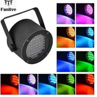 10pcs portable 86 rgb led stage lights par party show dmx 512 lighting effect disco spotlight projector for wedding bar club dj