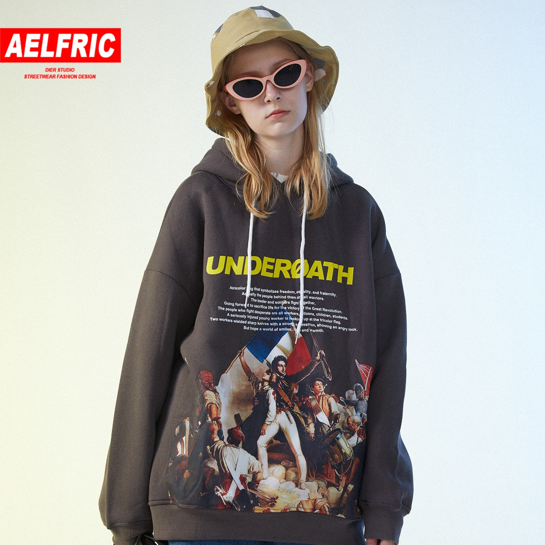 Aelfric Hip Hop Uprising Printed Thick Women Hooded Sweatshirts Autumn Harajuku Casual Cotton Femme Pullover Streetwear Hoodies