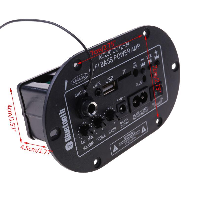 25W tablero Amplificador Bluetooth Amplificador USB FM Radio TF jugador Subwoofer Kit