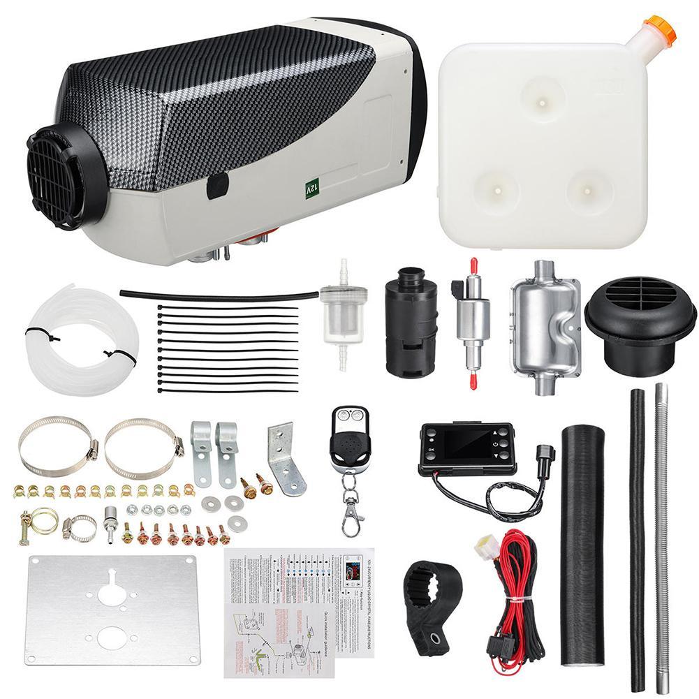 12V 5000W Diesel Air Heater Air Diesel Parking Heater Kit Warming Equipment Heater Diesel Engine With 10L Tank Vehicle Heater