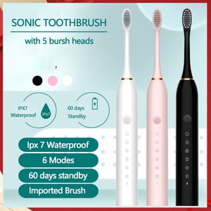 Sonic Electric Toothbrush Rechargeable Adult Timer Brush 42000 Time/Min Ultrasonic Washable Electronic Whitening Teeth Brush