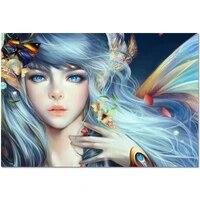 Nouveaute personnalise papillon fee affiche decoration de la maison mode soie tissu mur affiche personnaliser affiche 30X45cm27X40cm