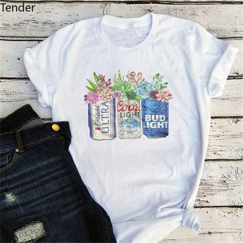 Harajuku T Shirt Women Vintage Tees Graphic aesthetic T Shirts Streetwear Girls  women t shirt coffee Floral Cactus tops Tshirt