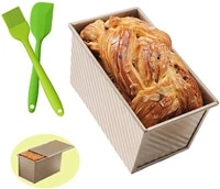rectangular loaf pan carbon steel non stick with cover toast box mold bread mold eco friendly baking tools for cakes accessories