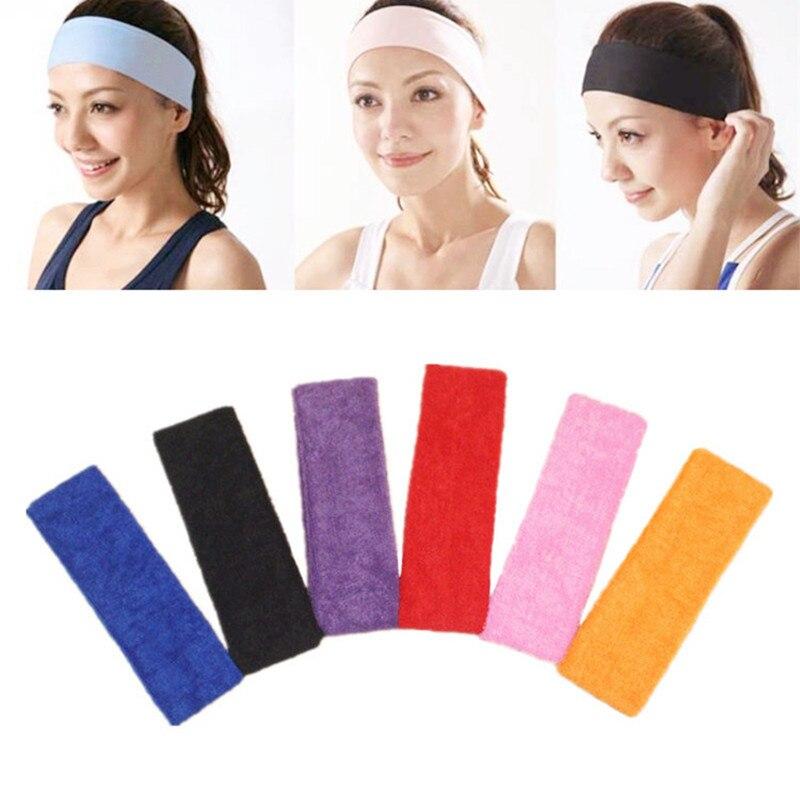 Bandas para el cabello para hombre y mujer, diadema deportiva para Yoga, toalla monocromática elástica, tocado de algodón para niñas