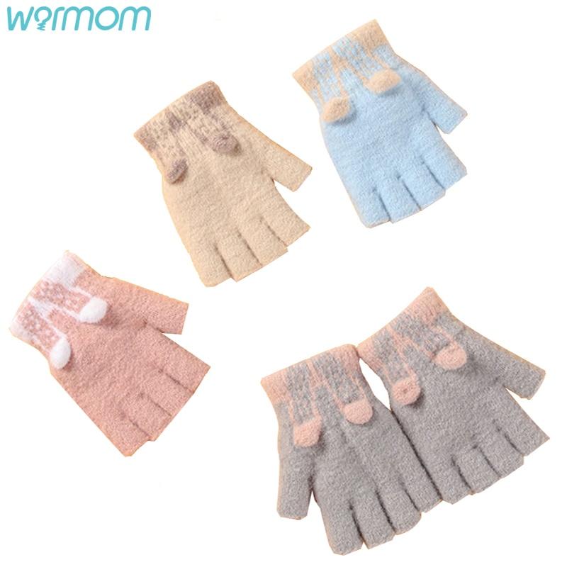 Warmom Winter Children Cute Sweet Cartoon Thickened Warm Gloves Boy Girls Lovely Outdoor Warm Gloves