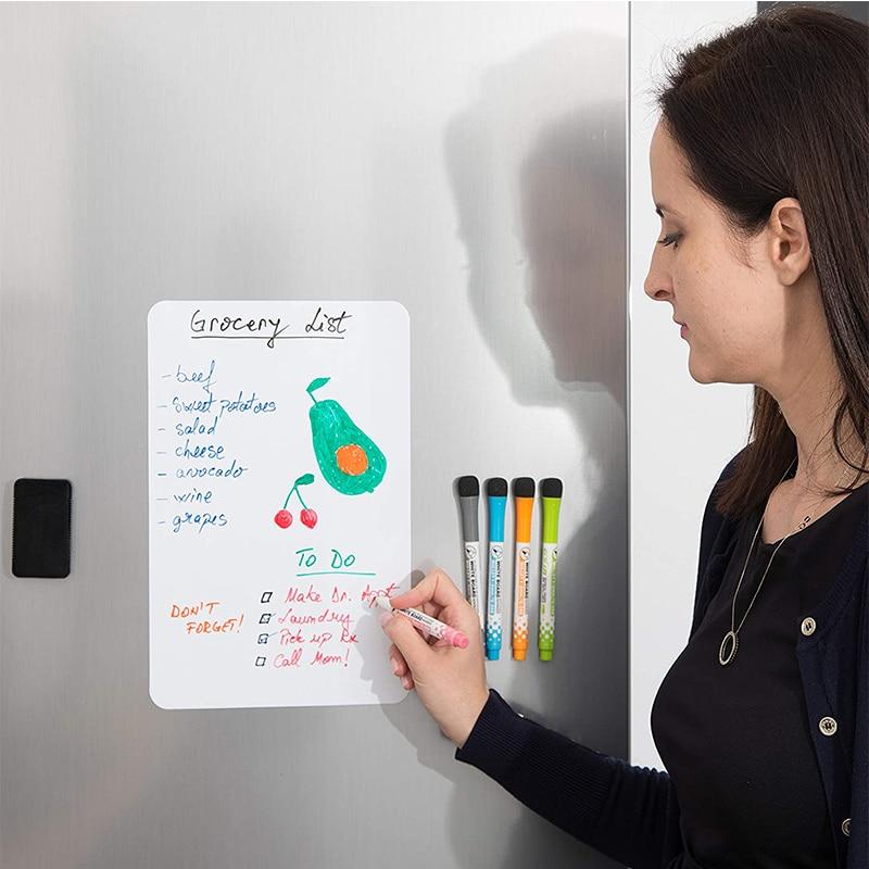 Whiteboard Magnetic Dry Erase Board Magnet White Fridge Sticker Writing Teaching Drawing Memo Calendar Child A5 Size