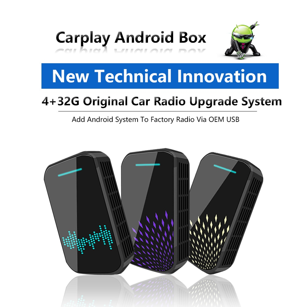 Carplay Wireless with 4+32G Carplay ai box support android auto Mirror Link Plug and Play For universal cars with carplay