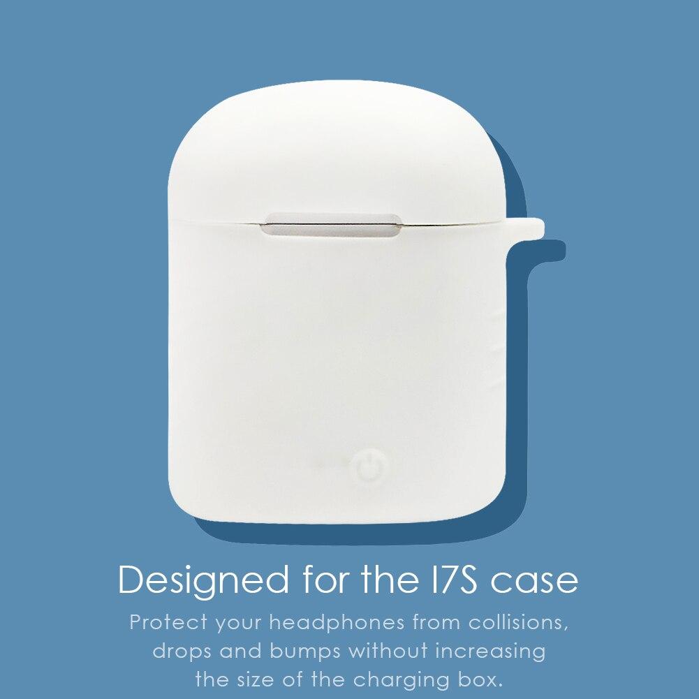 1-2 uds portátil de silicona Anti-caída protector fuerte cubierta auriculares Bluetooth cubierta de caja a prueba de polvo para i7S TWS caso auriculares caja