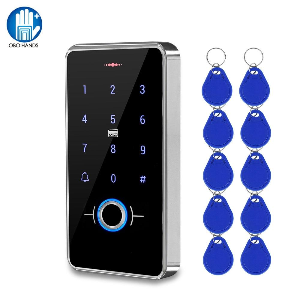 Outdoor IP68 Waterproof Fingerprint Access Control Keypad RFID Keyboard Touch Panel Electronic Door