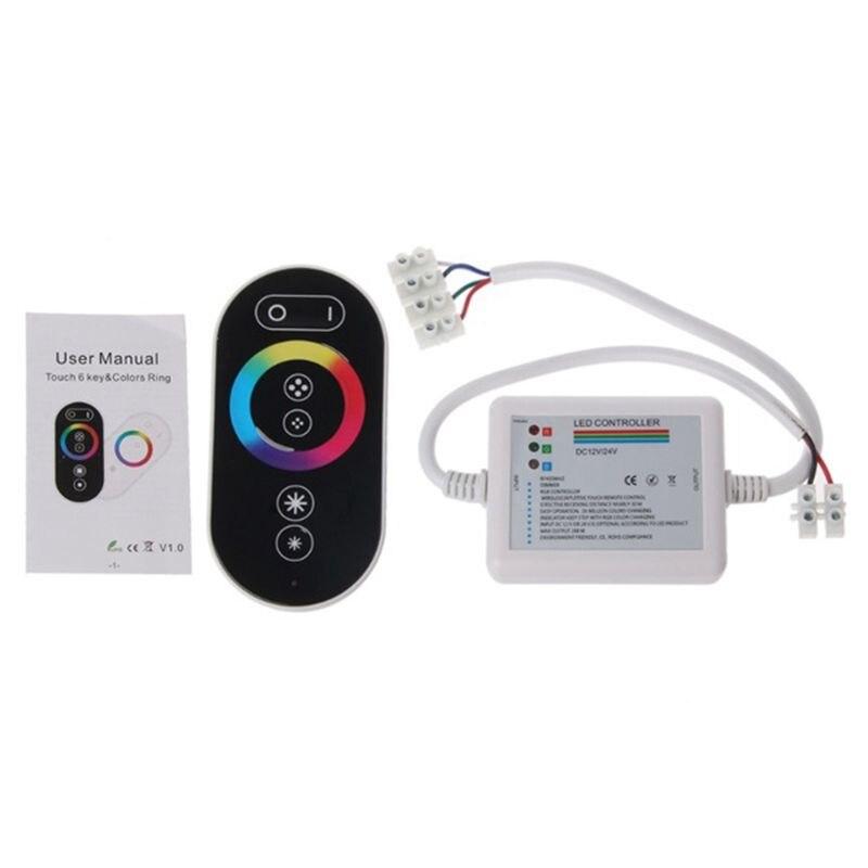 Controlador táctil RGB RF, Control remoto de luz LED + 6Key, 12-24V, 18a