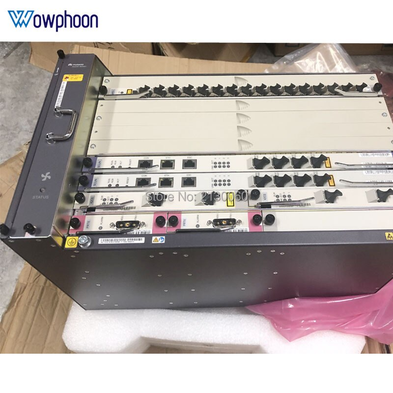 Huawei MA5683T 1G/10G OLT Fttb/Fttc/Ftth GPON EPON OLT 2 * SCUN + 2 * PRTE + 2 * X2CS * + 1 * GPFD B + C + +