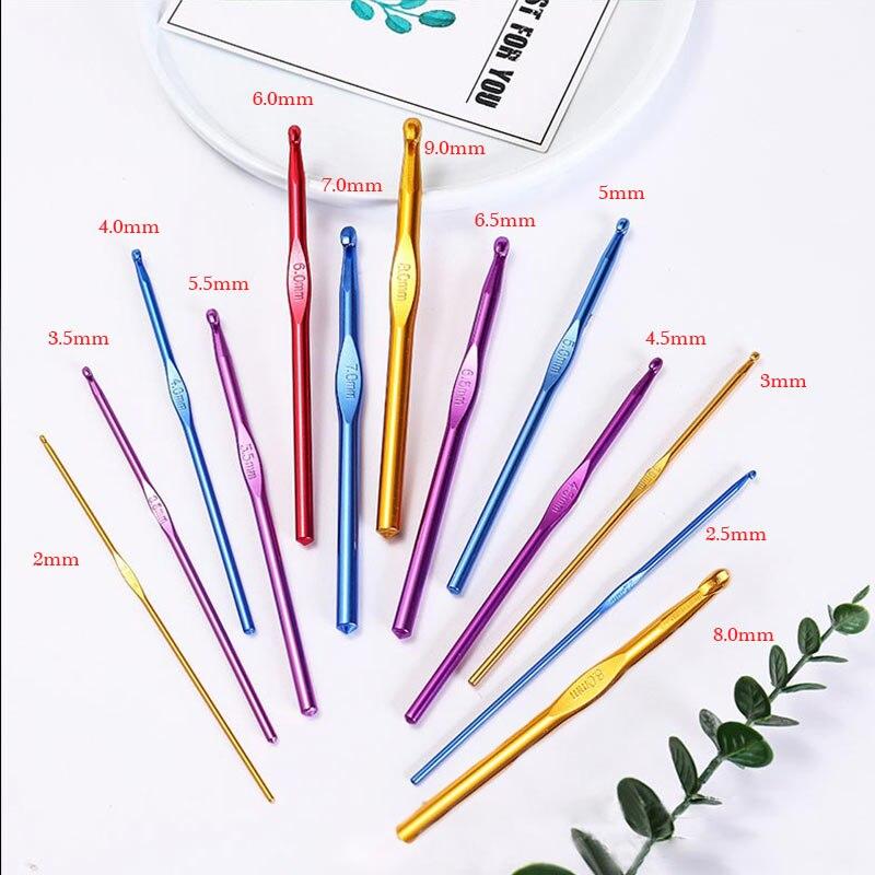 1 шт. Популярные швейные иглы вплетаемые крючком 2,0-10,0 мм крючком высококачественные спицы из оксида алюминия
