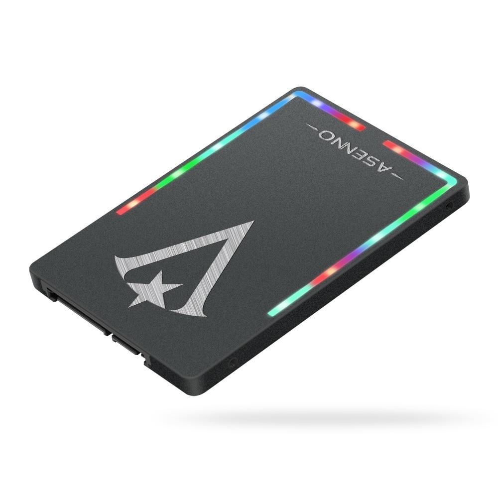 ASENNO 2.5 inch RGB luminous series 2.5 'SATA III SSD 1TB internal hard drive for game computers