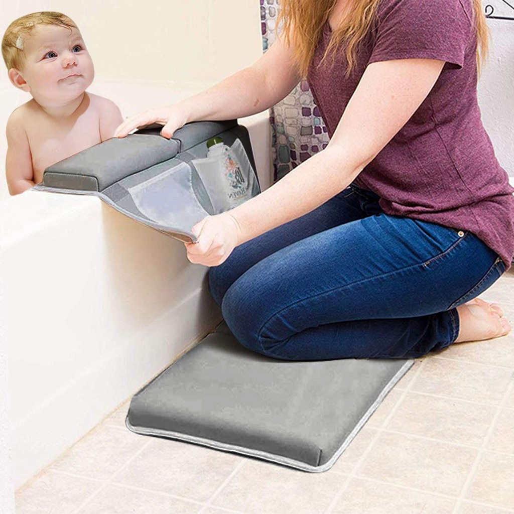 Children bathing mat Bath Kneeler Rest Pad Set Elbow Support Knee Kneeling pad Bathtub Kneeling Arm Support Kneeling Mat #BL5