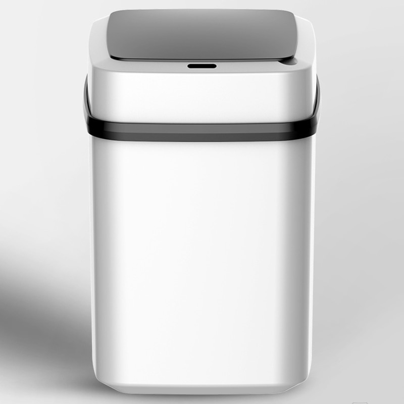 Automatic Clamshell Induction Trash Can Intelligent Ashcan Household Living Room Kitchen Bathroom Storage Accessories Waterproof enlarge