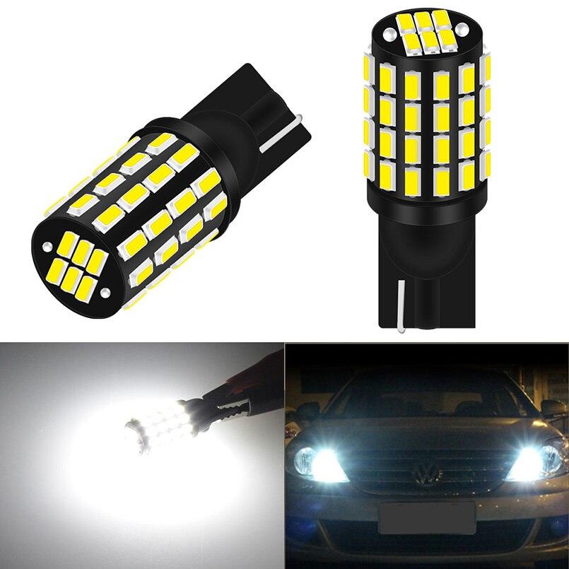 2x W5W LED T10 Canbus sin Error lámparas de coche 168 194 señal de giro matrícula bombilla para espacio de maletero luz de lectura DC12V