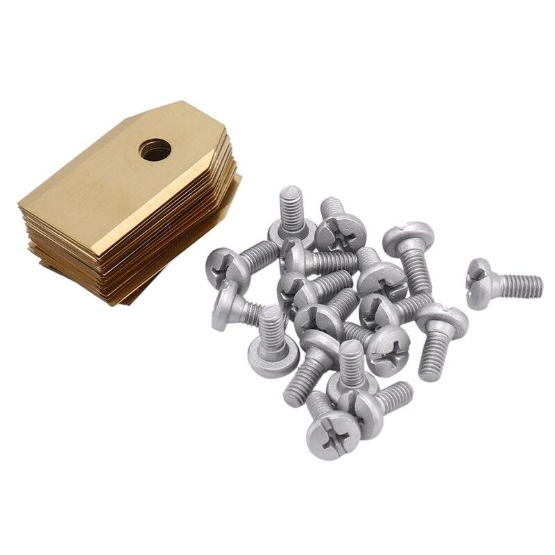 GTBL, 18 uds, alta calidad, recubierto de titanio, 0,75mm, cortacésped automático, juego de cuchillas para Husqvarnas Gardena 35X18mm
