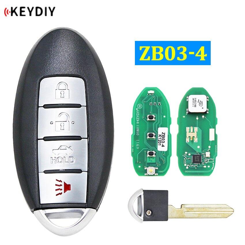 Keydiy ZB03-4 chave inteligente universal para KD-X2 substituição remota chave do carro apto para mais de 2000 modelos