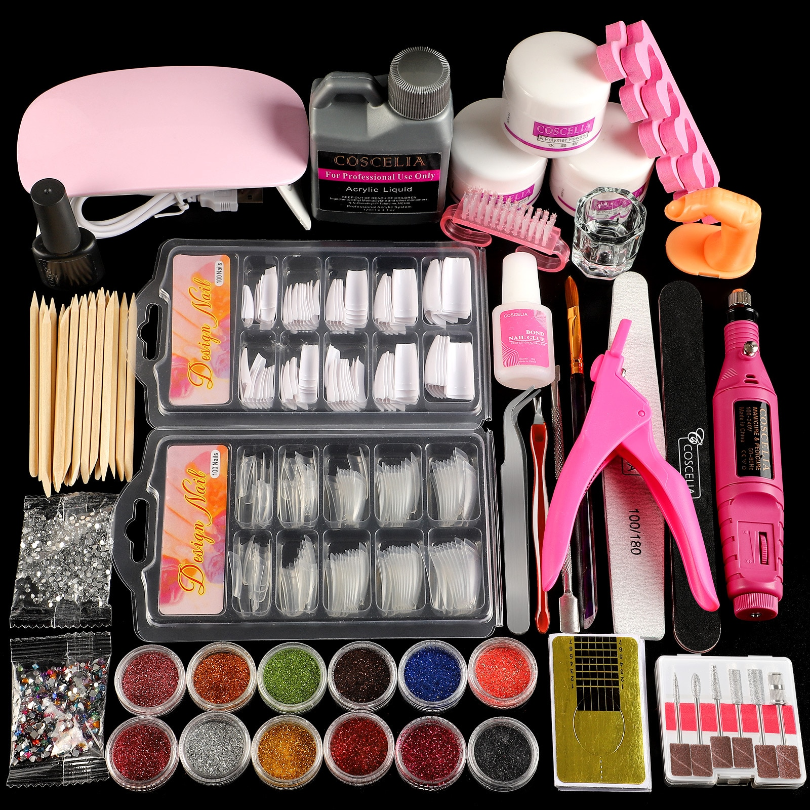 Acrylic Powder Set of Milling Cutters Nail Extension Set All For Manicure Gel Polish Set Nail Art De