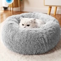 round cat beds house soft long plush best pet dog bed for dogs basket cushion cat bed cat mat animals sleeping sofa pet products