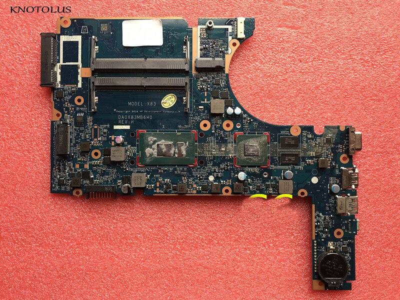 De alta calidad para HP PROBOO 450 G4 470 G4 placa base de computadora portátil i5-7200U DA0X83MB6H0 907714-601, 907714-001 907714-501 prueba de trabajo