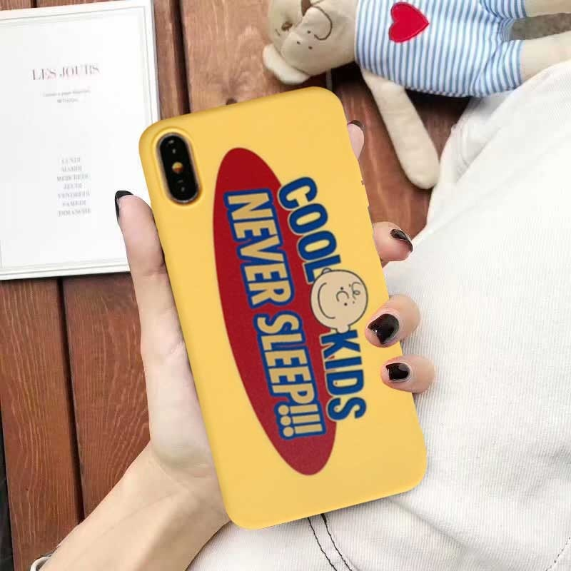 Remazy, carcasa de teléfono con diseño de letras Retro marrón de dibujos animados para iPhone 7X11 Pro XR XS Max 6s 8 Plus, bonita funda de silicona suave, Capa