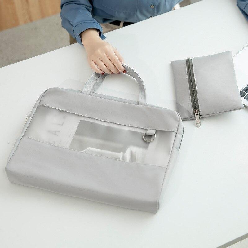 a4 file document bag Office business briefcase handbag 13 inch laptop bag  12.9 inch ipad sleeve storage case
