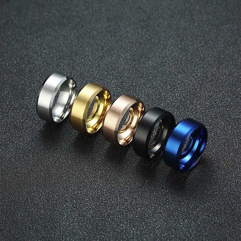 AliExpress - Vnox 8mm Men Ring Stainless Steel Wedding Jewelry Horus Anka Bible Medical