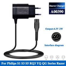 AU UK US EU Plug A00390 Charger Power Cord Adaptor For Philips Norelco OneBlade QP2520 QP2521 QP2523 Shaver