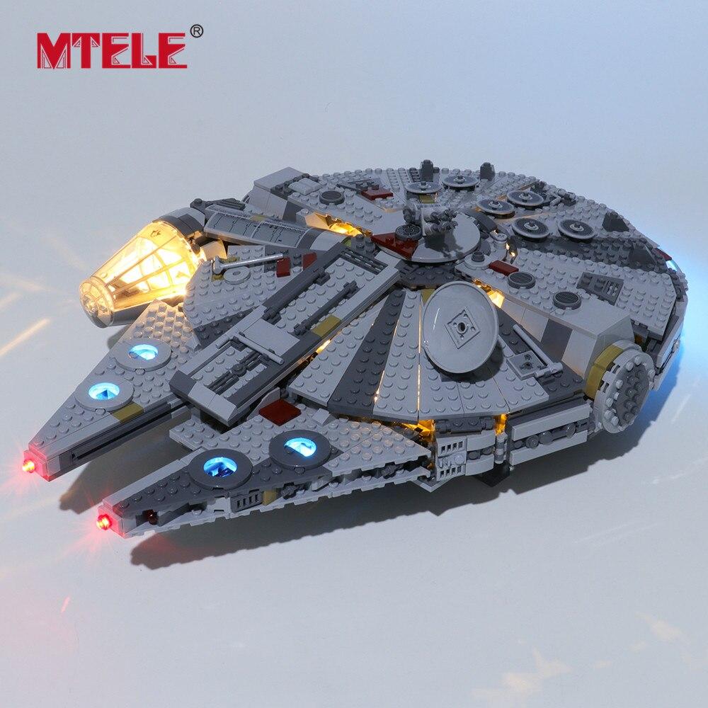 MTELE Brand LED Light Up Kit For 75257 Star war 2019 New Edition Millennium Lighting Set Compatile With Falcon LJ99022
