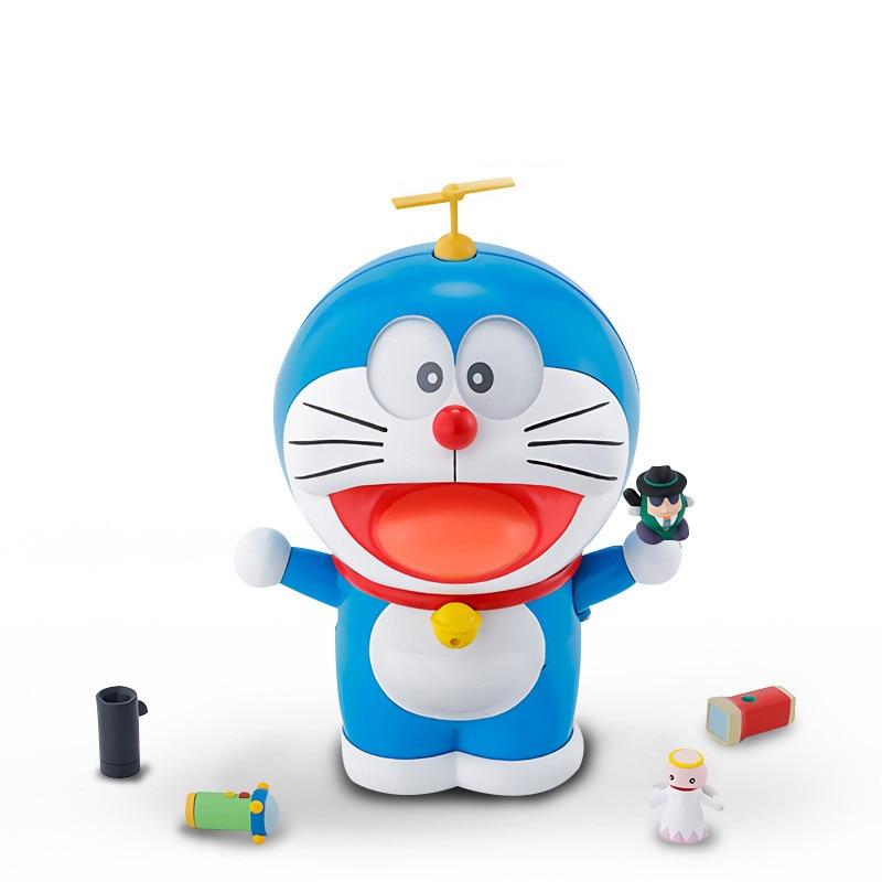Kawaii Doraemon Model Kit Spirits Face Eyes Figure Toys Animal Action Robot For Baby Children Boy Bi