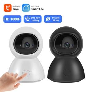 INQMEGA NEW 1080P IP Camera Indoor Wireless Security Baby Monitor Tuya Smart Life Night Vision Automatic tracking  camera Survei