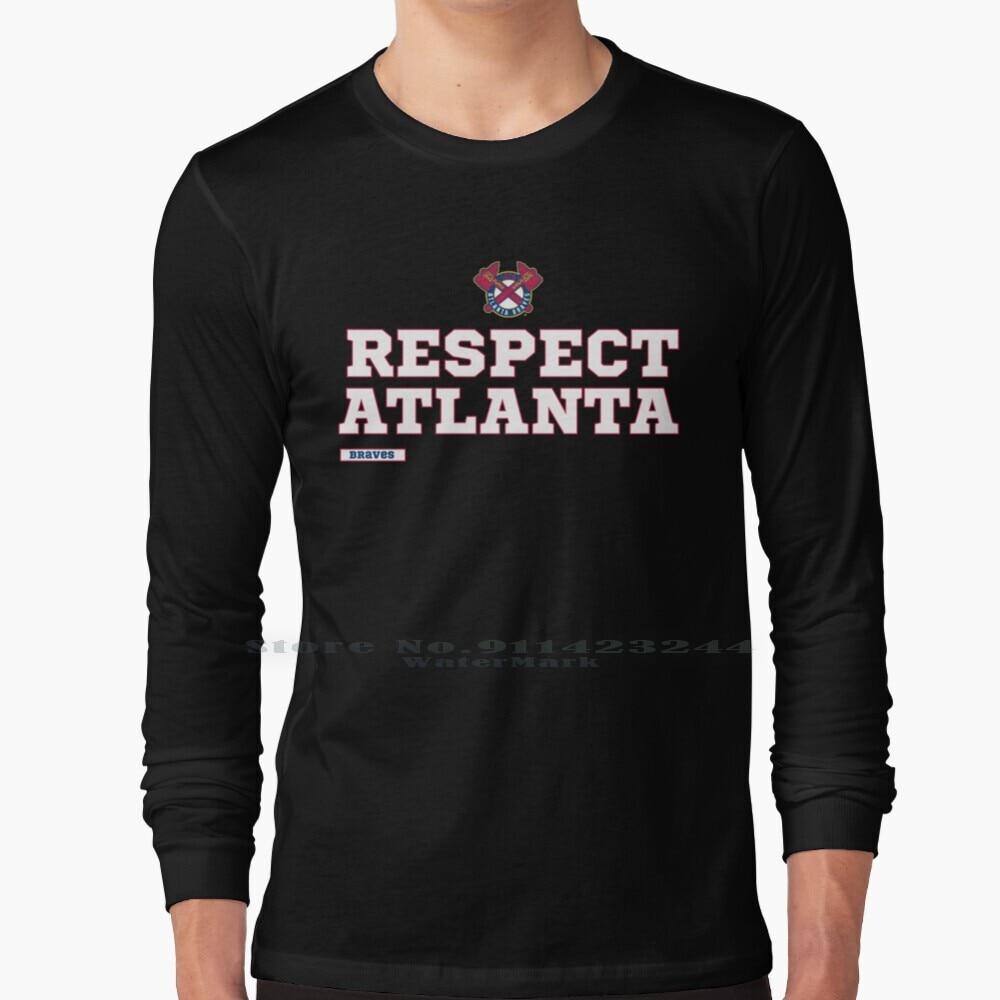 Respect Atlanta Long Sleeve T Shirt Tee Respect Atlanta Baseball