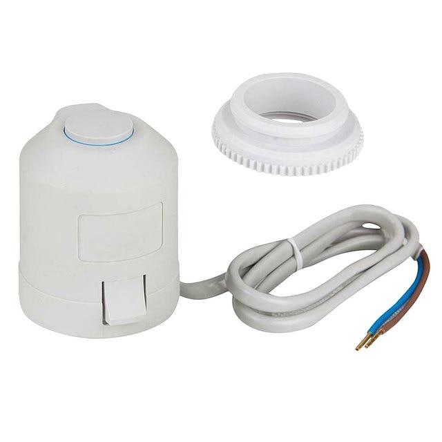 Нормально закрытый нагревательный клапан для пола 220 В электрический
