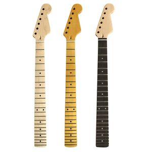 Для гитары Деревянный из клена шеи Гладкий край и гриф из розового дерева Электрогитары ручка струнный инструмент Запчасти
