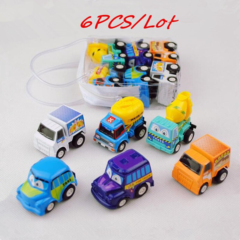 6PCS New Hot sale Small Car Toy Pull Back Diecasts Toy Vehicles Small Model Mini Car Toys for children's Birthday Gift  Day