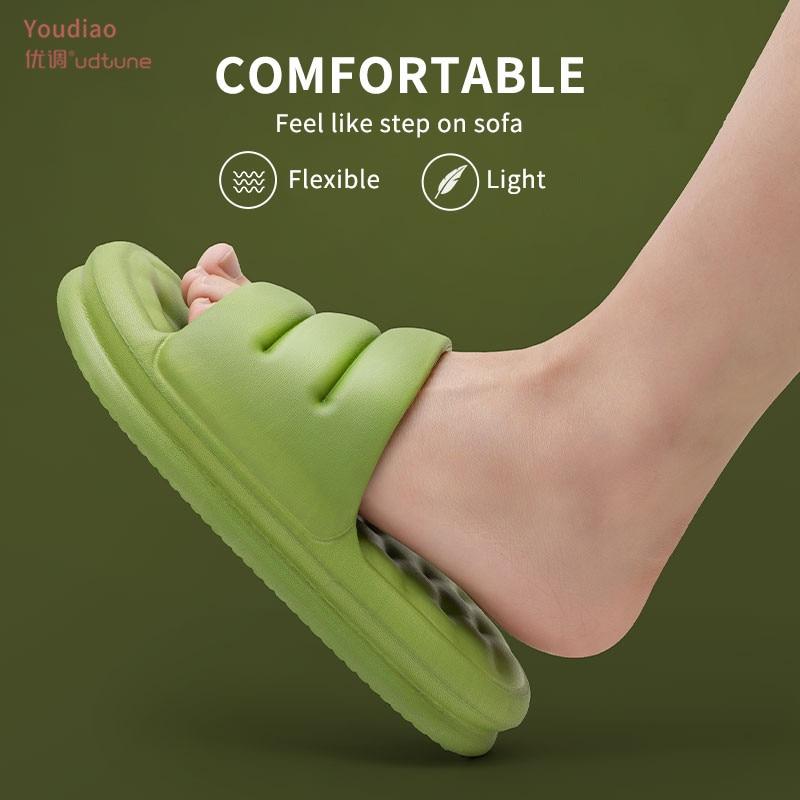 Youdiao Mute EVA Sofa Slides Women Thick Sole Soft Indoor Slippers Women Anti-slip Sandals Men Summer Platform Women Shoes Bath