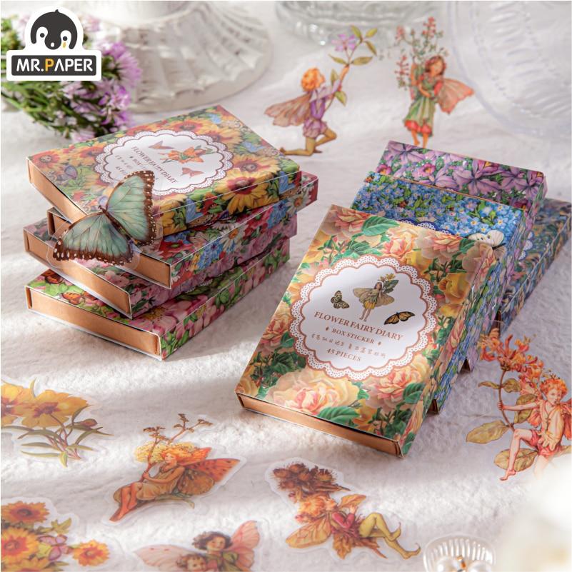 el-sr-de-papel-caja-de-hada-de-las-flores-diario-serie-pegatina-decorativa-para-uso-diario-planificador-de-bloc-de-notas-japones-decorativos-papeleria-pegatinas