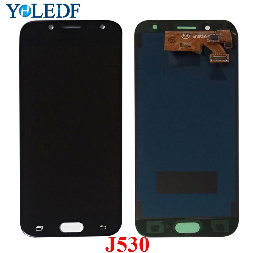"5,2 ""LCD ajustable J530 2017 para Samsung Galaxy J5 DE 2017 pantalla táctil digitalizador J5 Pro J530 J530F/DS LCD piezas de montaje"